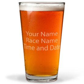 Custom Text 16 oz Beer Pint Glass