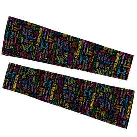 Running Printed Arm Sleeves - MRTT/SRTT Handwritten Pattern
