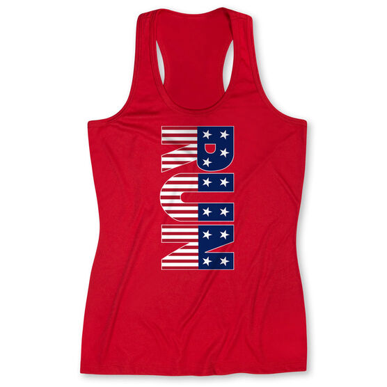 Women's Performance Tank Top - Patriotic Run