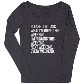 Women's Runner Scoop Neck Long Sleeve Tee - All Weekend Running