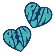 Running Stickers - Love The Run (Set of 2)