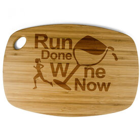 Rectangle Laser Engraved Bamboo Cutting Board Run Done Wine Now