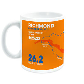 Running Coffee Mug - Personalized Richmond Map