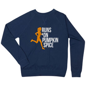 Running Raglan Crew Neck Sweatshirt - Runs On Pumpkin Spice