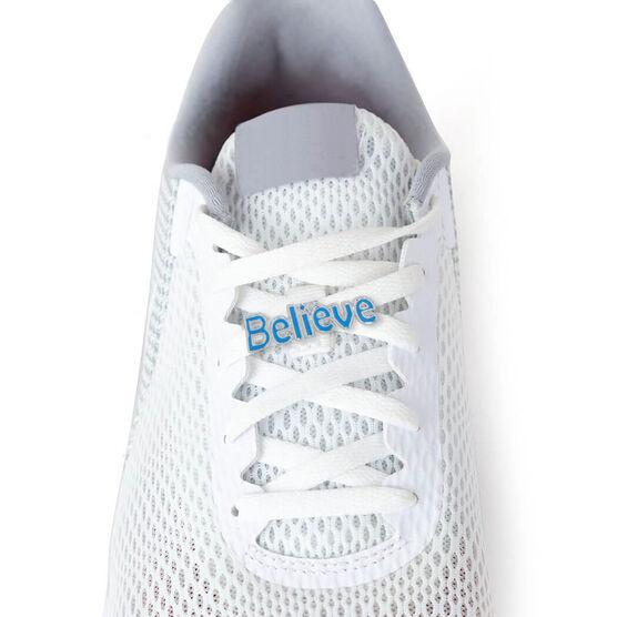 LaceBLING Shoelace Charm - BELIEVE (BLUE)