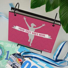 BibFOLIO® Race Bib Album - Female Runner Personalized