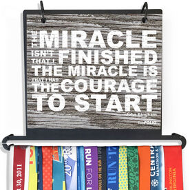 BibFOLIO+™ Race Bib and Medal Display Miracle (Rustic)