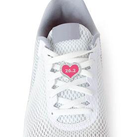 26.2 Marathon Pink Heart - LaceBLING Shoe Lace Charm