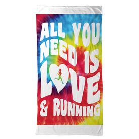 Running Beach Towel All You Need Is Love