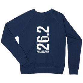 Running Raglan Crew Neck Sweatshirt - Philadelphia 26.2 Vertical