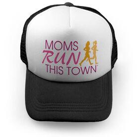 Running Trucker Hat - Moms Run This Town Poppy Pattern