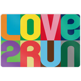 "Running 18"" X 12"" Wall Art - Love 2 Run (Color)"