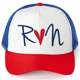 Running Trucker Hat Run Heart