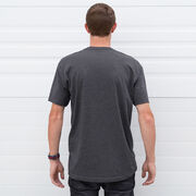 Running Short Sleeve T-Shirt - Trail Runner in the Mountains
