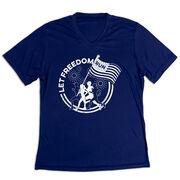 Women's Short Sleeve Tech Tee - Let Freedom Run