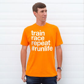 Running Short Sleeve T-Shirt - Train Race Repeat