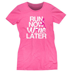 Women's Everyday Runners Tee Run Now Wine Later (Bold) [Hot Pink/Adult XX-Large] - SS