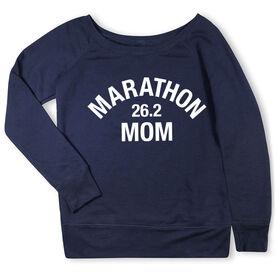 Running Fleece Wide Neck Sweatshirt - Marathon 26.2 Mom