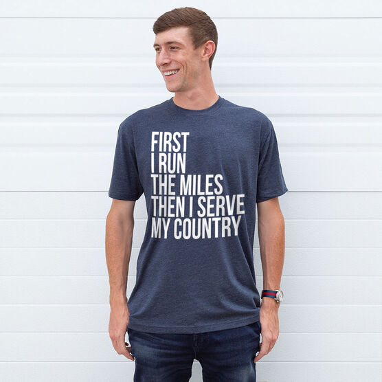 Running Short Sleeve T-Shirt - Then I Serve My Country