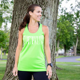 Women's Racerback Performance Tank Top - Run Where The Wild Things Are