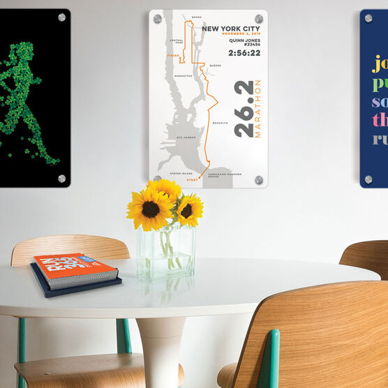 """Running 18"""" X 12"""" Wall Art - Personalized New York City Map"""