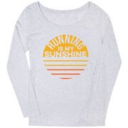 Women's Runner Scoop Neck Long Sleeve Tee - Running is My Sunshine