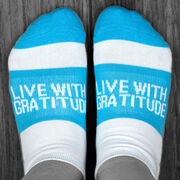 Socrates® Woven Performance Sock - Live with Gratitude