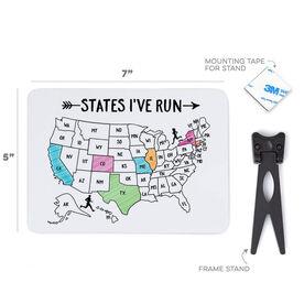 Running Desk Art - States I've Run Outline