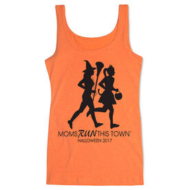 Women's Athletic Tank Top - Moms Run This Town Halloween (2017)