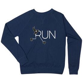 Running Raglan Crew Neck Sweatshirt - Let's Run For Halloween