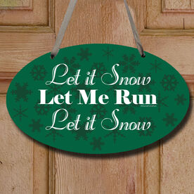 Let It Snow Decorative Oval Sign