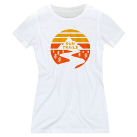 Women's Everyday Runners Tee - Run Trails Sunset