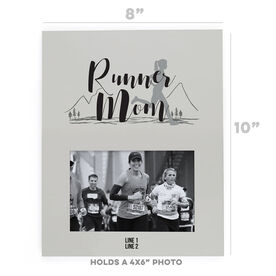 Running Photo Frame - Runner Mom With Silhouette
