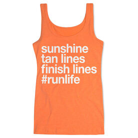 Women's Athletic Tank Top - Sunshine Tan Lines Finish Lines
