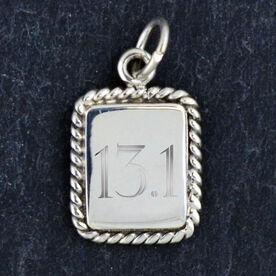 Sterling Silver Rectangular Framed Charm 13.1