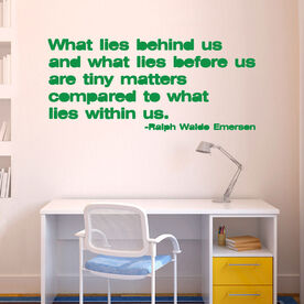 What lies behind us Removable GoneForARunGraphix Wall Decal