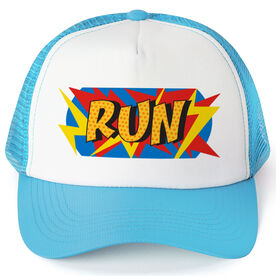 Running Trucker Hat - Comic Super Hero Runner
