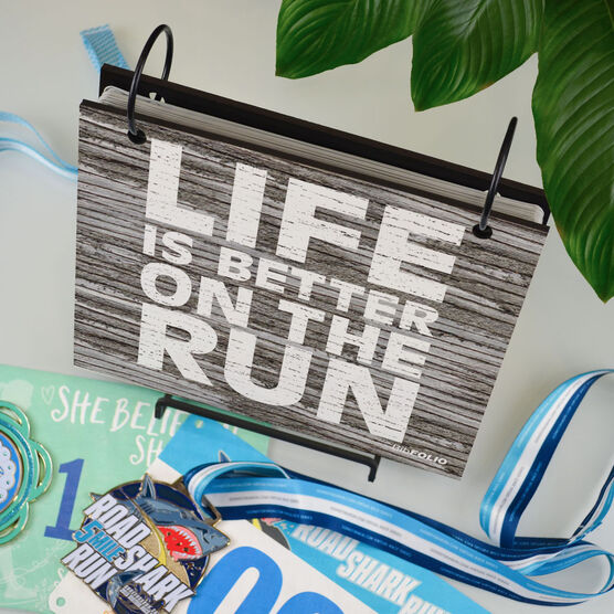 BibFOLIO® Race Bib Album - Life Is Better On The Run Rustic