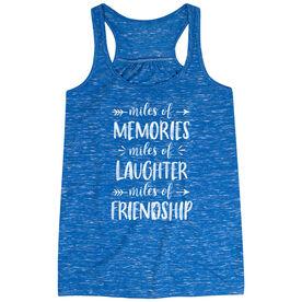 Flowy Racerback Tank Top - Miles of Friendship Mantra