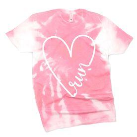 Running Short Sleeve T-Shirt - Run Heart Tie-Dye