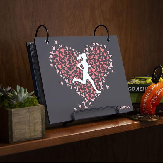 BibFOLIO® Race Bib Album - Run With Your Heart