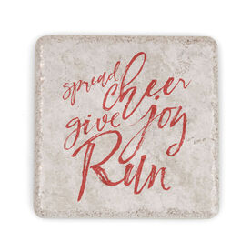 Running Stone Coaster Spread Cheer