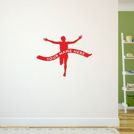 Running Wall Decal Personalized Finish Line Male