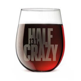 Running Stemless Wine Glass 13.1 Half Crazy