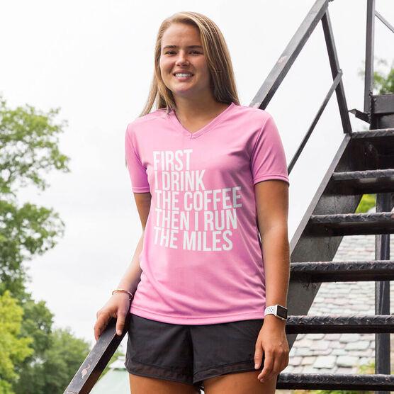 Women's Running Short Sleeve Tech Tee - Then I Run The Miles