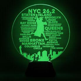 Running Acrylic LED Lamp NYC 26.2
