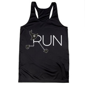 Women's Racerback Performance Tank Top - Let's Run For Halloween