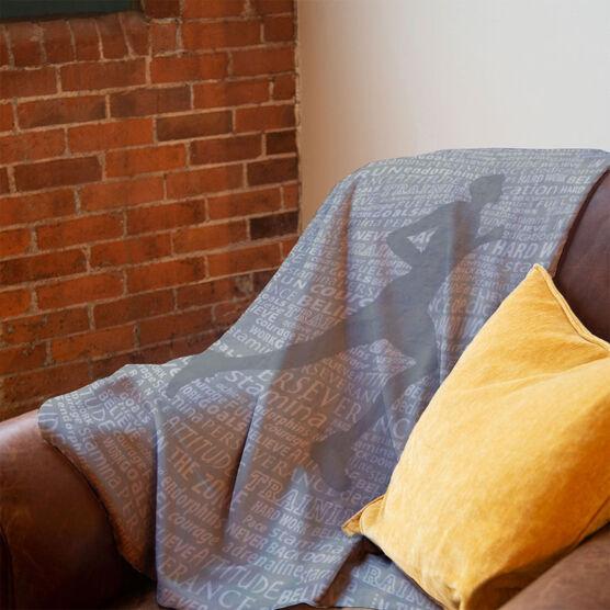 Running Premium Blanket - Inspiration Male