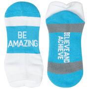 Socrates® Woven Performance Socks Be Amazing (Baby Blue)