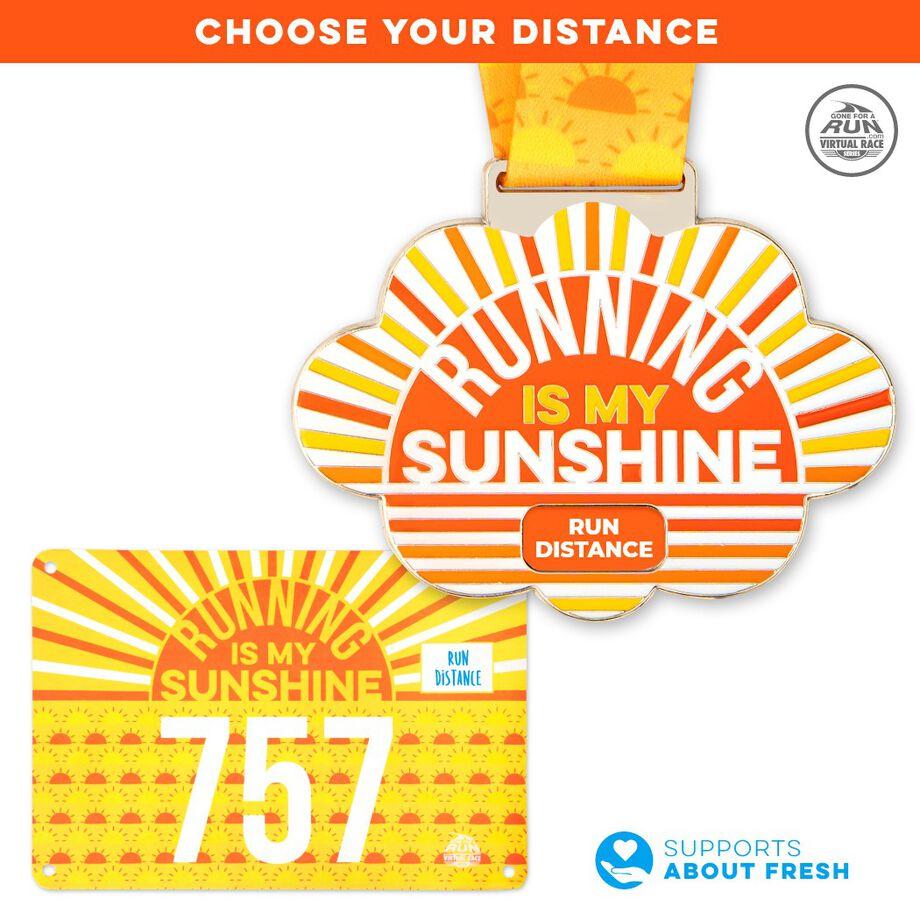 Virtual Race – Running Is My Sunshine Custom Distance (2021)